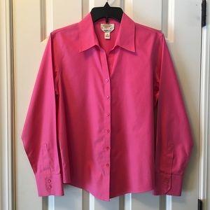 Talbots pink wrinkle resistant blouse